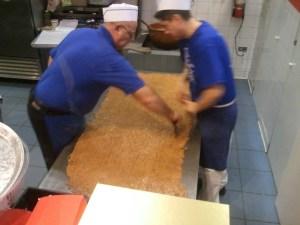 Making fudge at The Fudge Pot