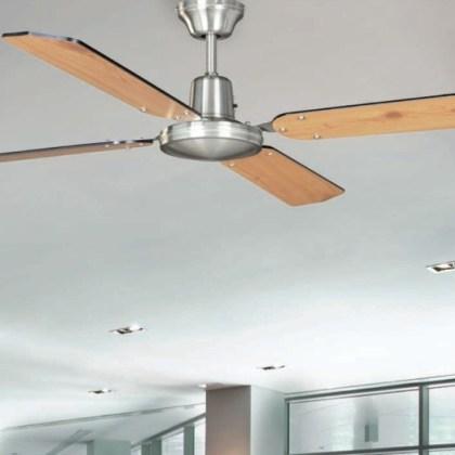 03950435WE Ventilador de techo Cromo sat. (palas reversibles) d.132 cms