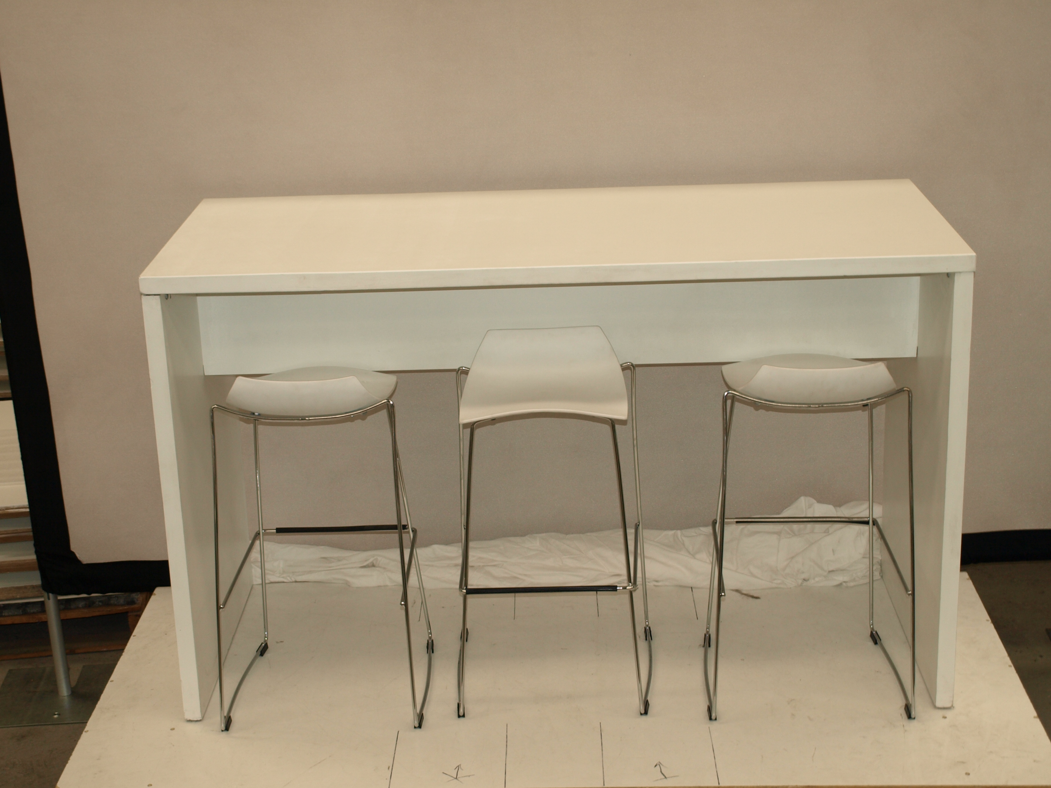 7 Piece White High Table Set