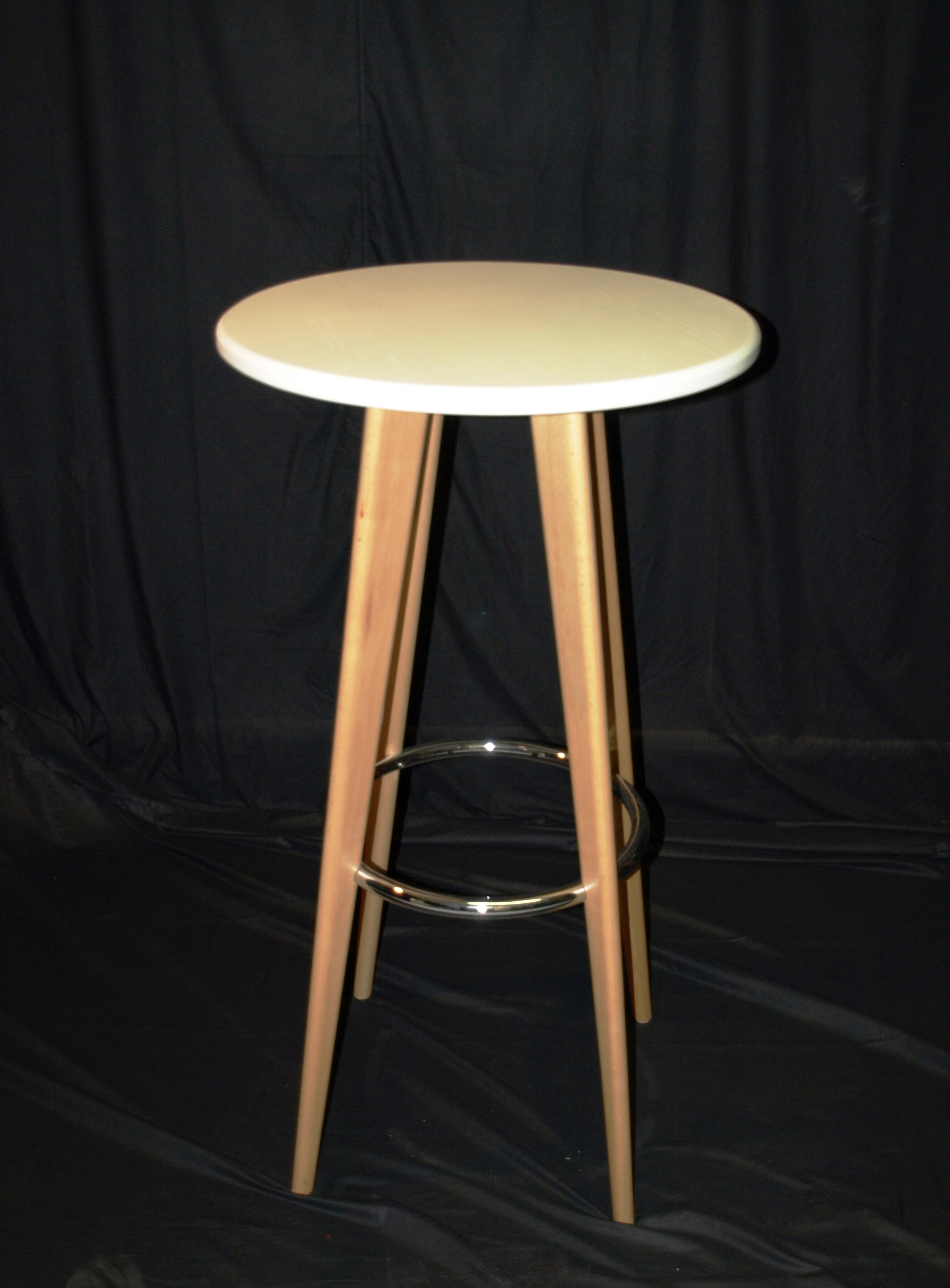 High Bar Tables Perth White Wooden High Table