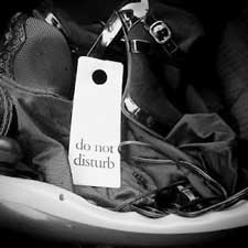 "e[lust] elust best sex blogs, image ""do not disturb sign"""