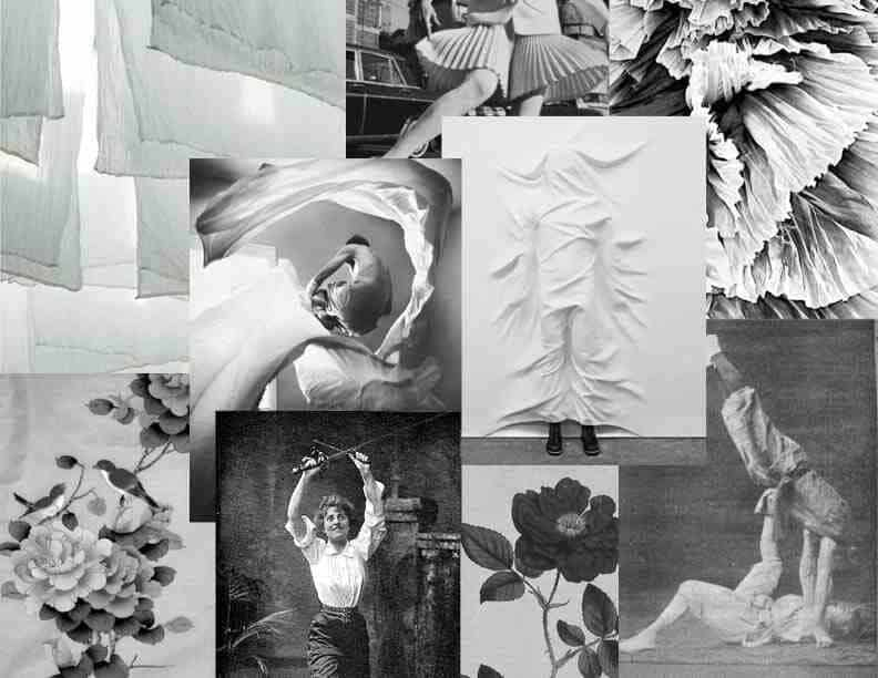 A mood board by one of the designers