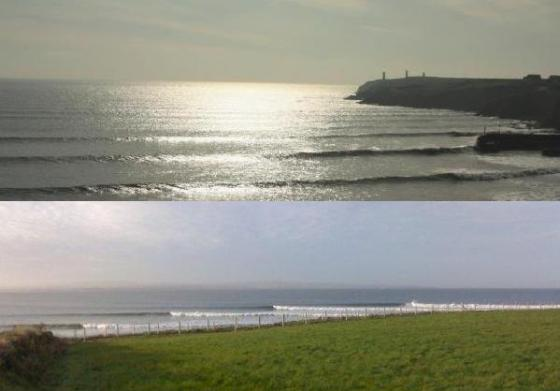 two views of sea