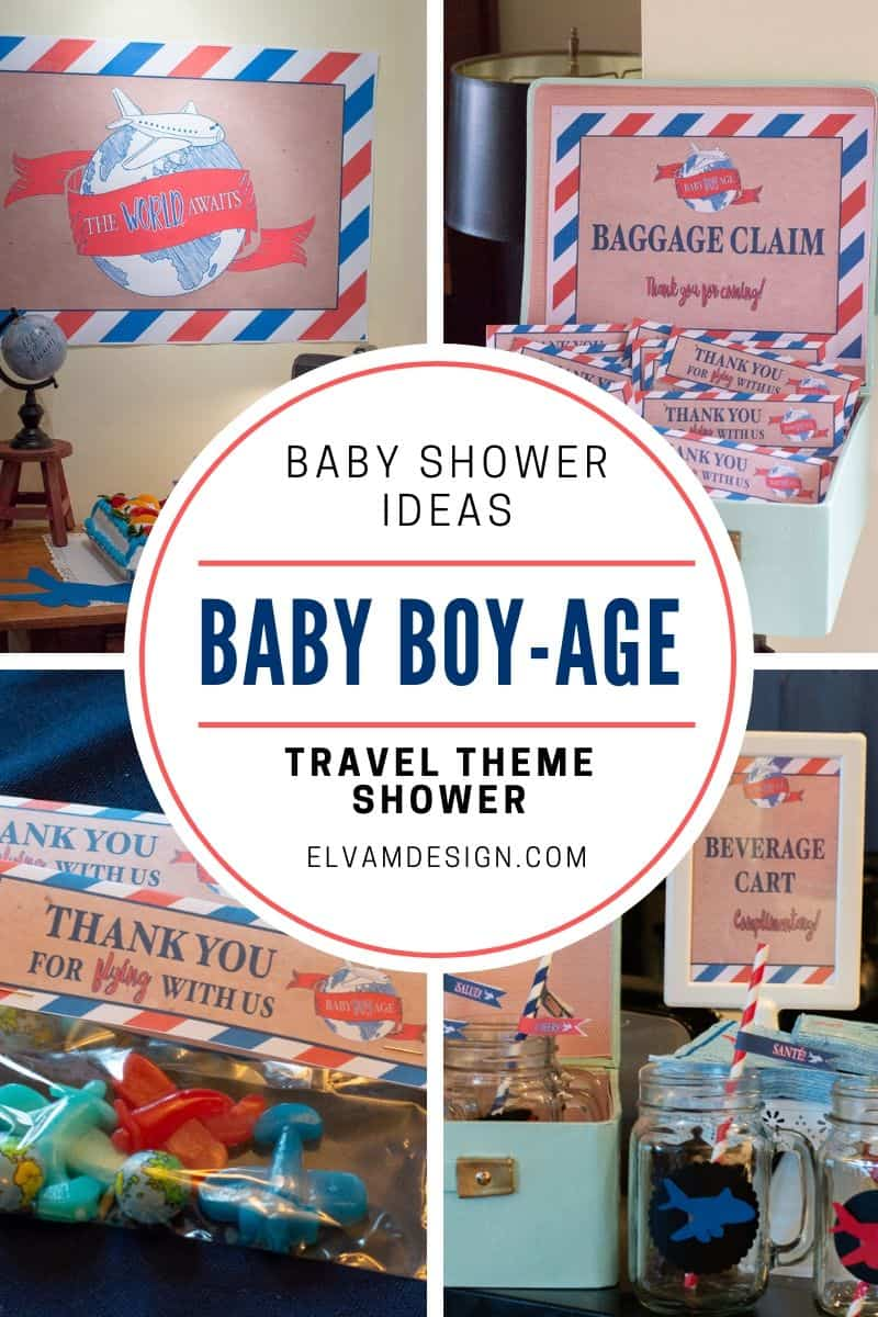 Travel Theme Ideas Baby Boy Age Travel Theme Shower Elva M Design Studio