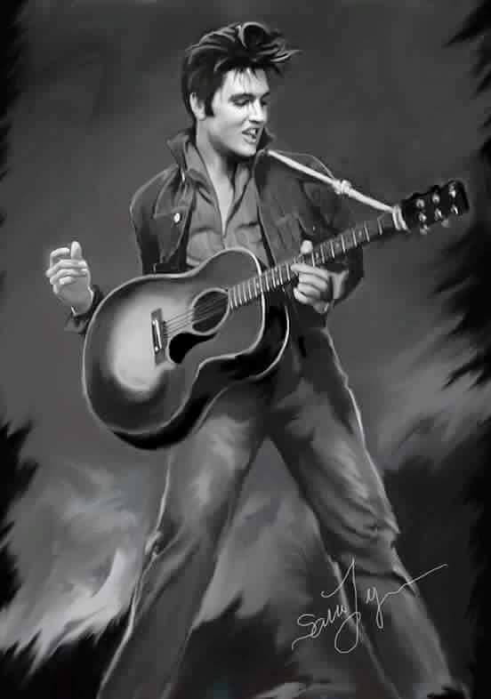 Top Quotes Wallpaper 16 Amazing Elvis Presley Art Works By Sara Lynn Sanders