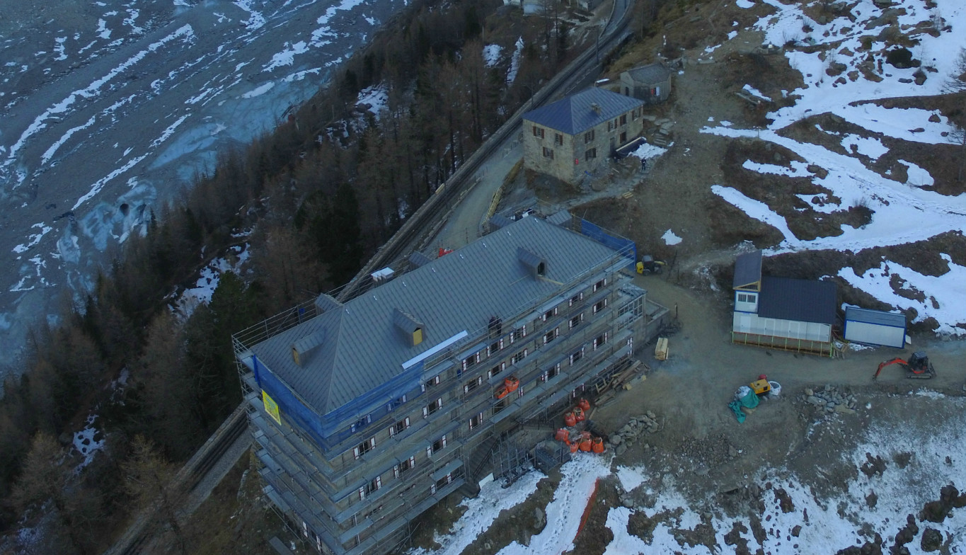 Hotel Montenvers French Montenvers Hotel Elzinc Slate Roof Renovation
