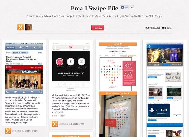 ExactTarget Email Swipe File on Pinterest \u2013 Emailmarketingweb
