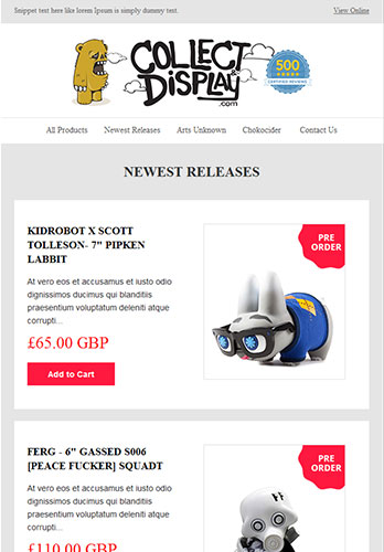 Professional Email Newsletter Examples, Business Email Sample Ideas