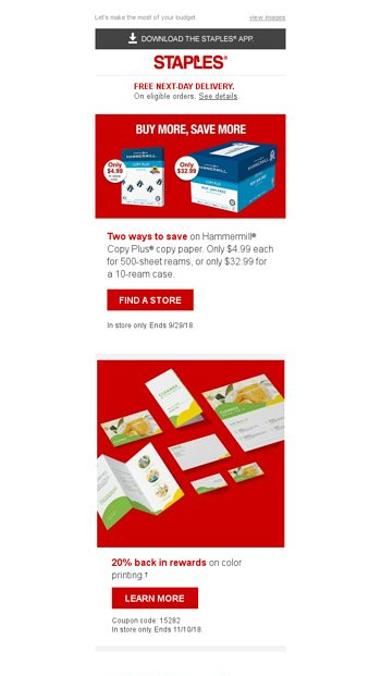 Save a little Save a lot Stock up today! - Staples Email Archive - save a lot flyer