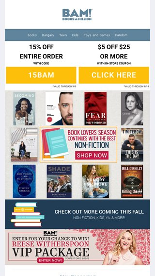 Best Fall Non-Fiction Books! Plus Extra 15 OFF Entire Purchase