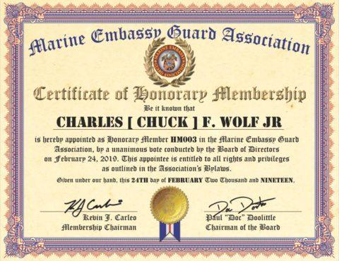 HOME Marine Embassy Guard Association MEGA
