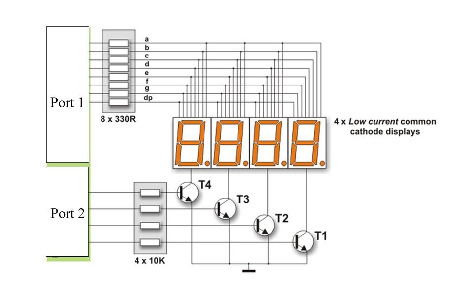 7 segment display pin diagram