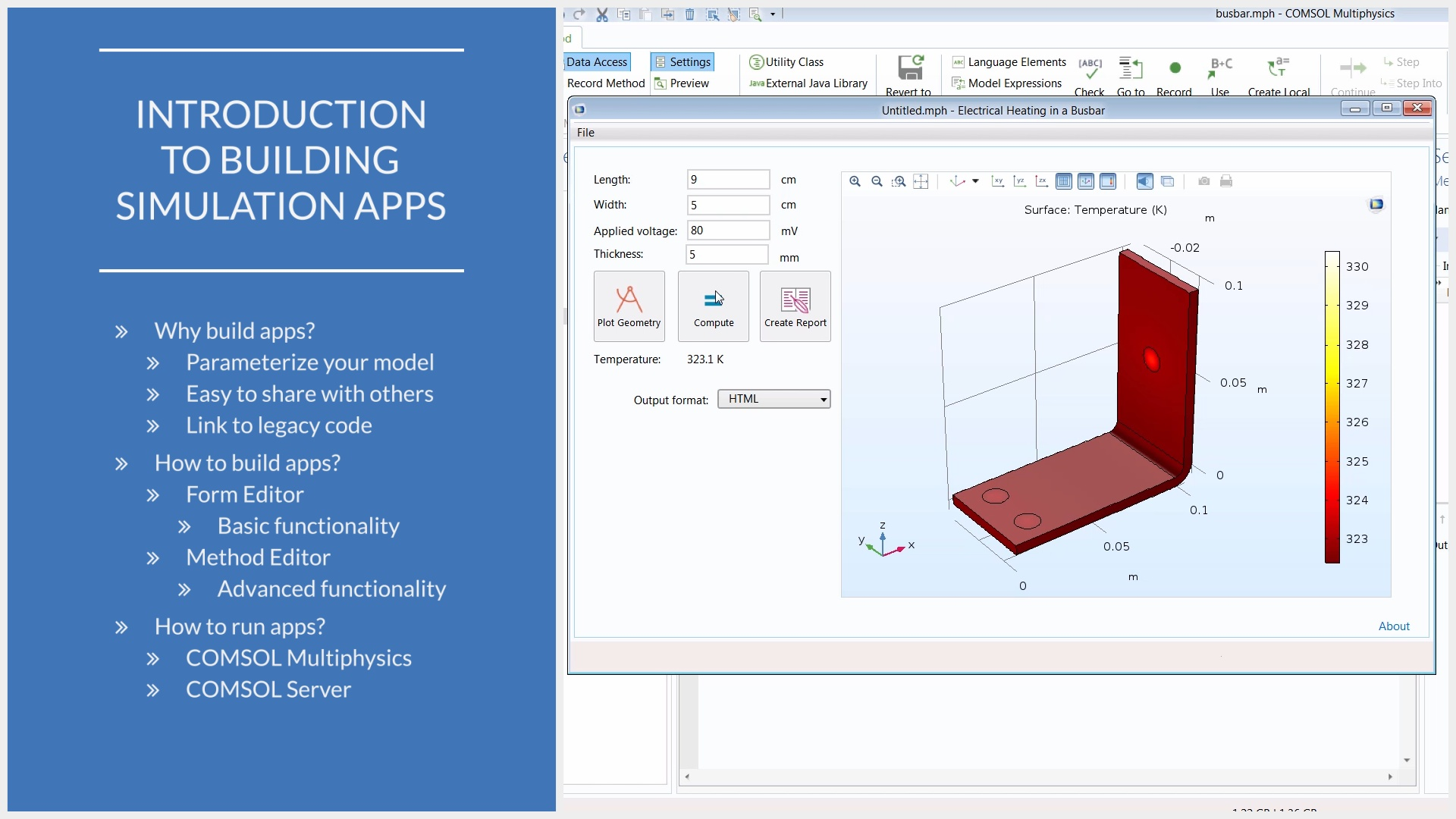 Einrichten Design App Build Simulation Apps From Your Comsol Multiphysics Model