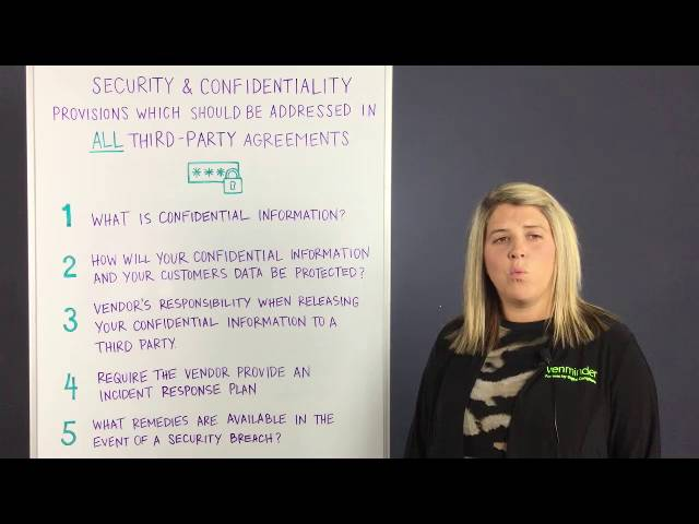 Video on Vendor Contract Confidentiality and Security - vendor confidentiality agreement