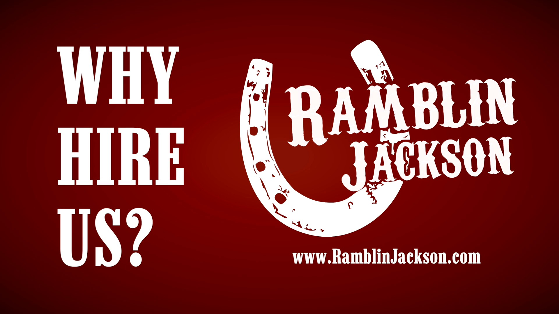 Musique Video Why Hire Ramblin Jackson
