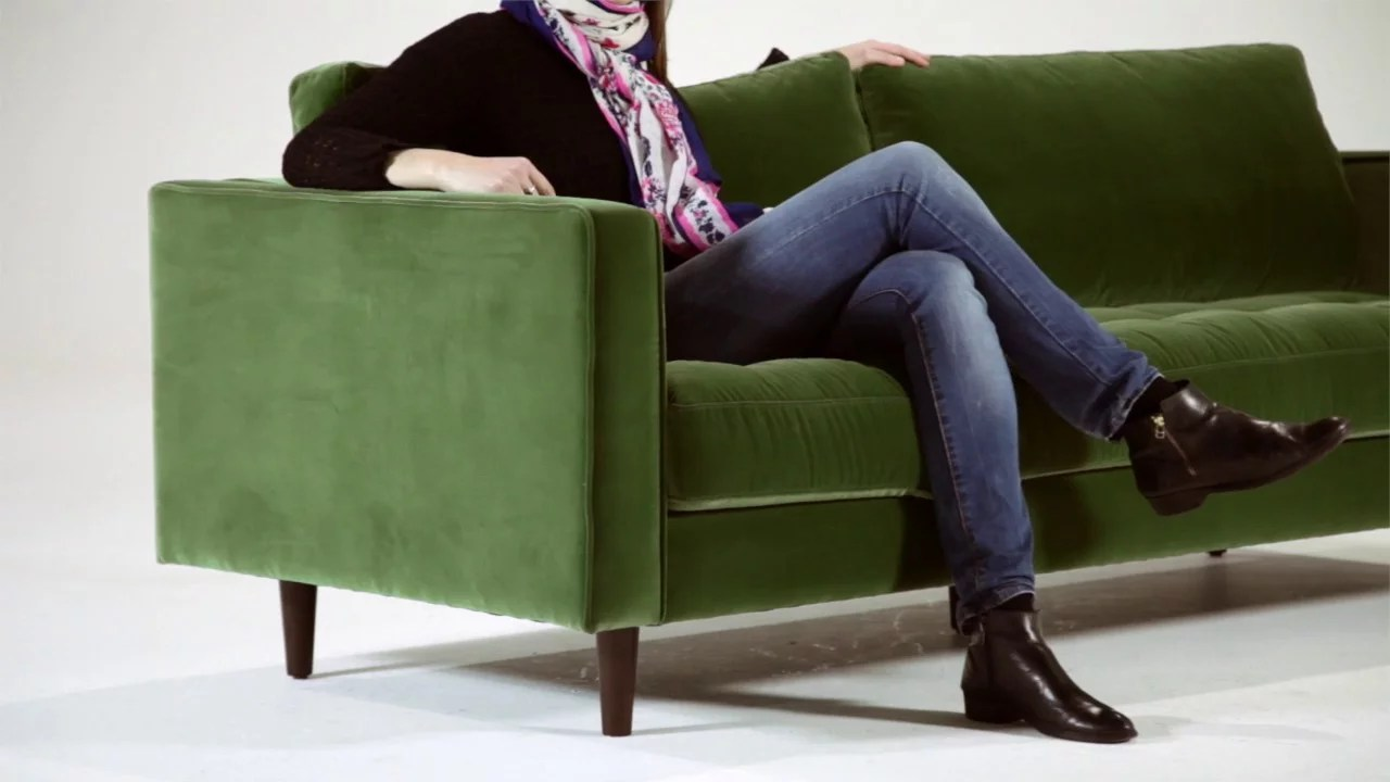 Made Sofa Velvet Scott Green Velvet