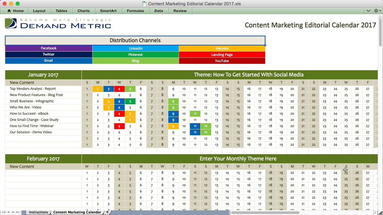 Top Result 60 Best Of Digital Marketing Calendar Template Image 2017 - editorial calendar template