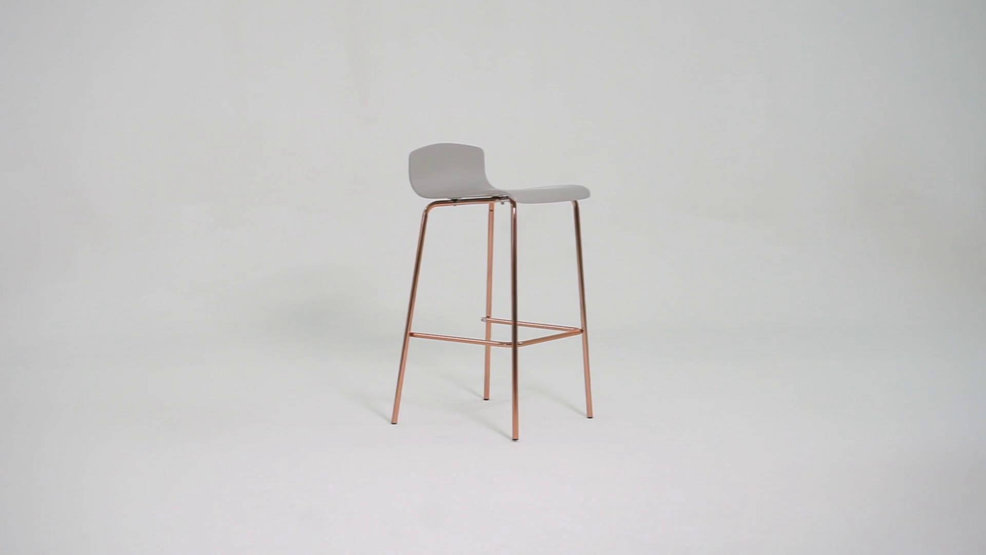 Tabouret De Bar Gris Clair Syrus Bar Stools