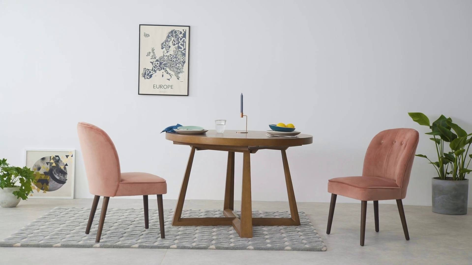 Eetkamerstoelen Fluweel Margot Dining Chairs Pink