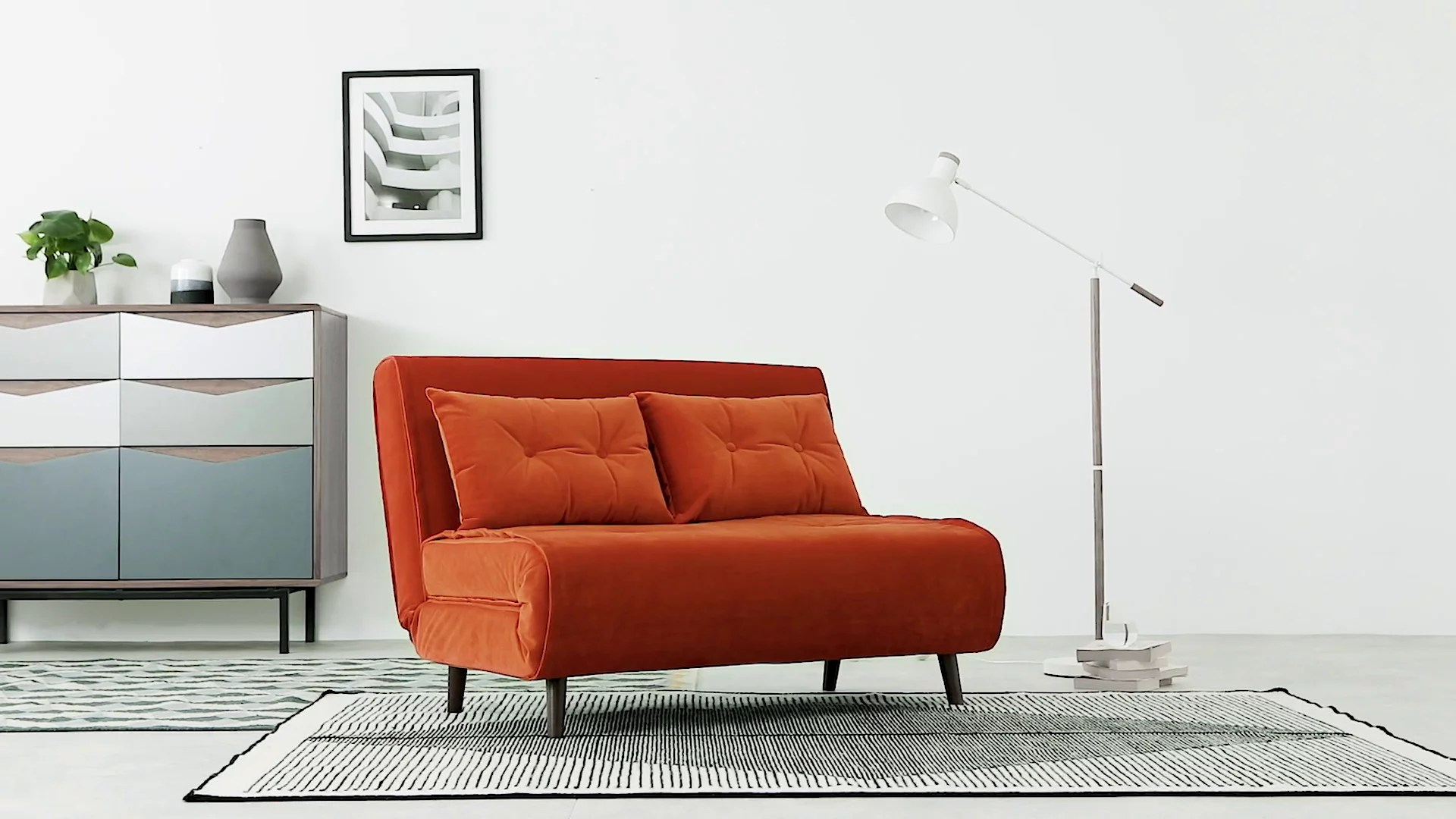 Grüne Sofa Erlangen Haru Small Sofa Bed Orange