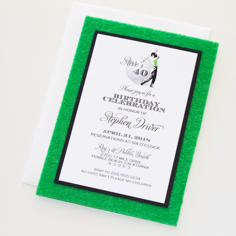 Golf Birthday Party Invitation - Embellished Paperie LLC