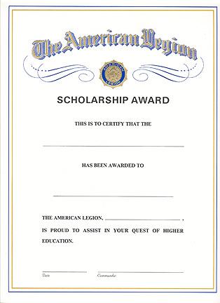 Certificates-American Legion Flag  Emblem