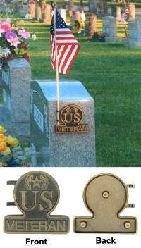 Bronze Flag Holder (US VETERAN) - American Legion Flag ...