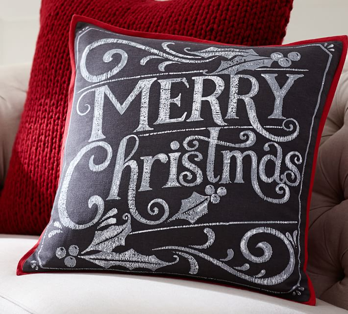 Easy and Inexpensive Christmas Decor Ideas - Embracing Simple - decorative christmas pillows