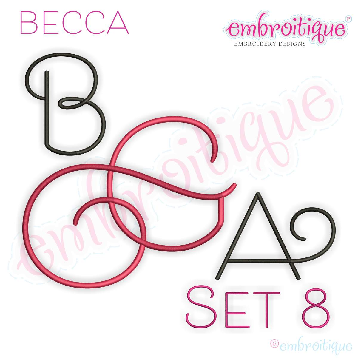 alphabets embroidery fonts becca set 2 exclusive