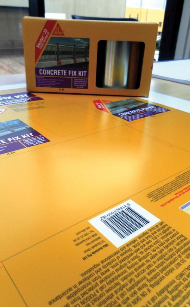 sika australia concrete fix packaging design emma wright em designs graphic design