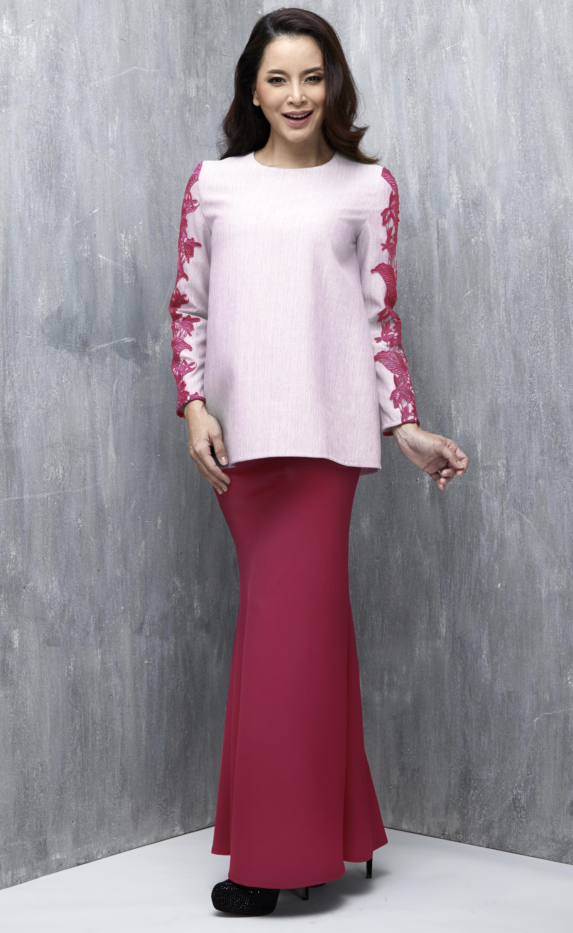 bias cut baju kurung baju raya moden