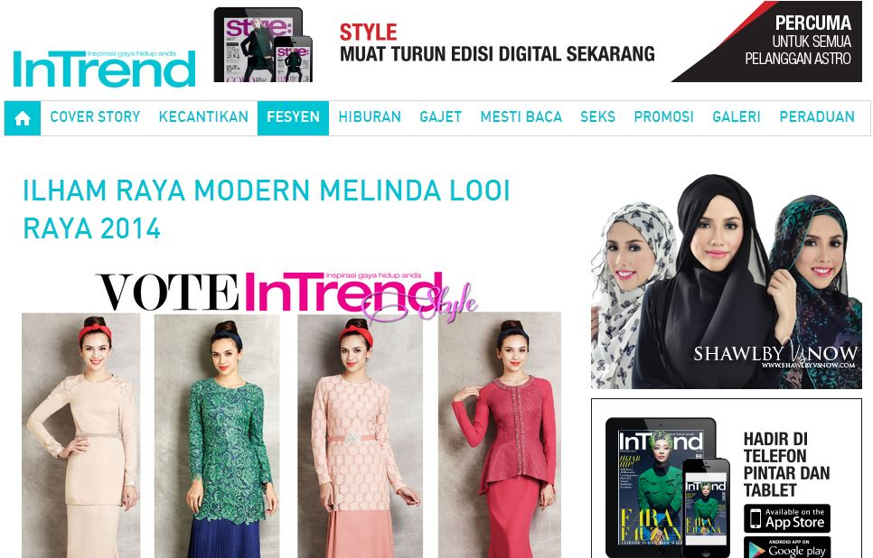 InTrend baju raya baju kurung modern 2014
