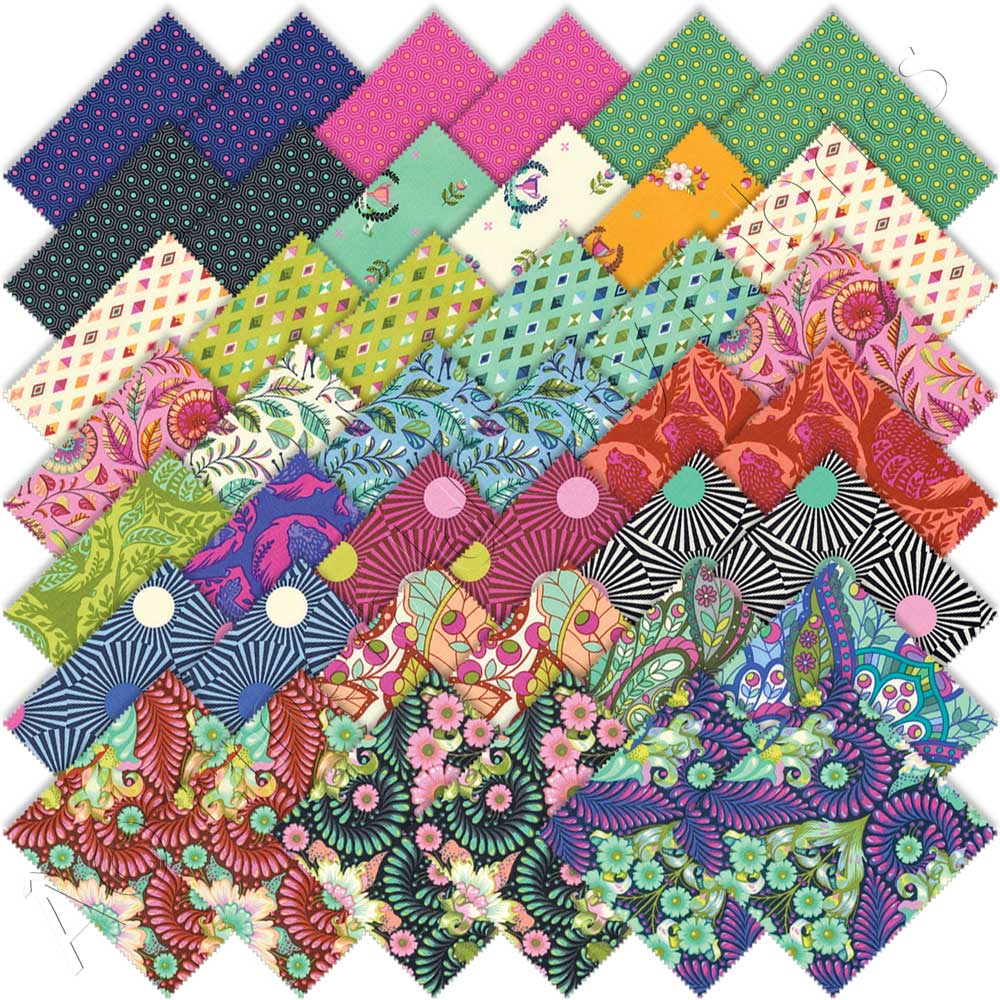 Quilt Und Patchwork Pakete Tula Pink Slow And Steady Charm Pack By Free Spirit Emerald City