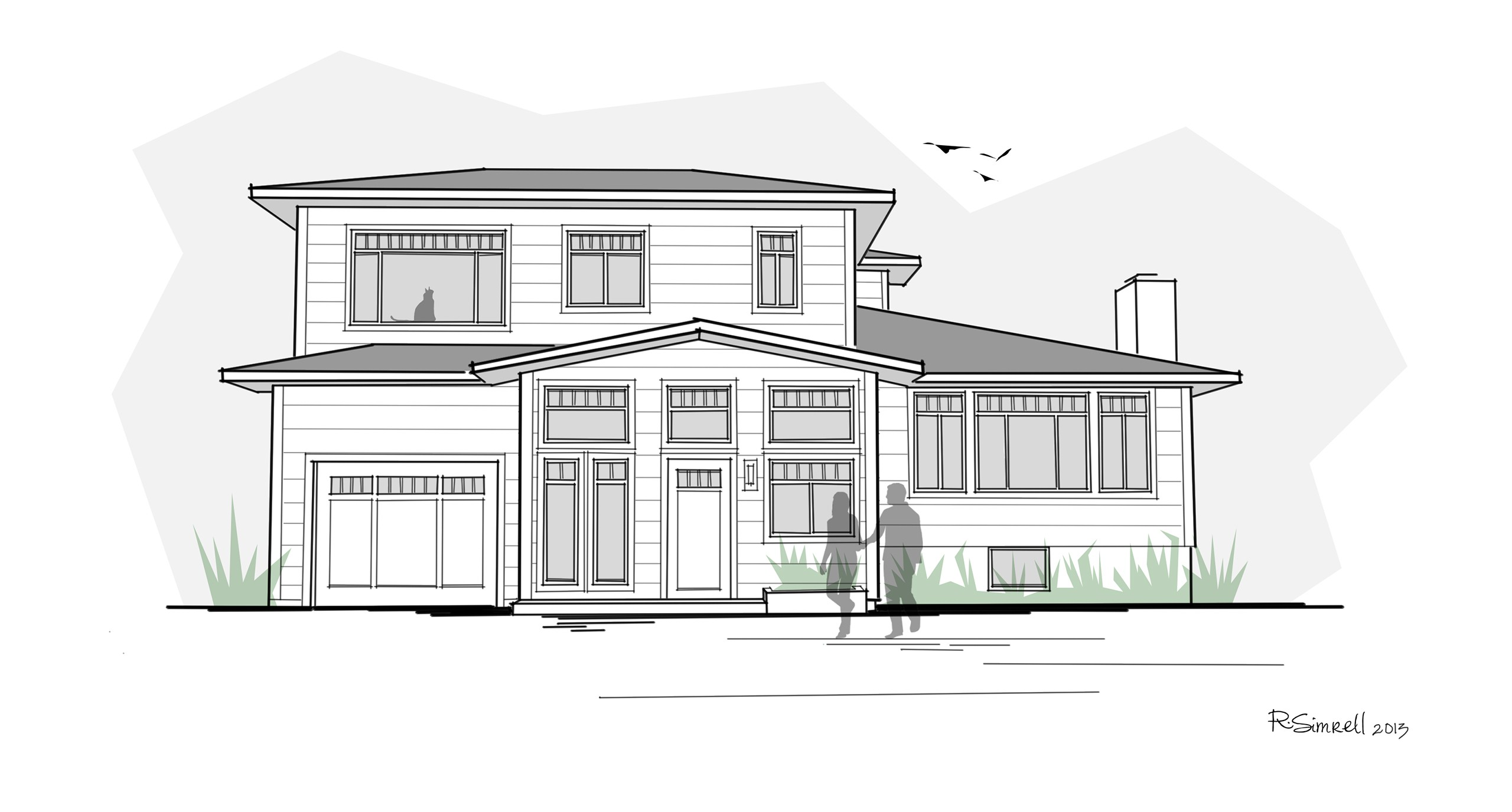 Home Design Sketch Early Design Sketches 92nd Street Remodel Addition Emerald Seven