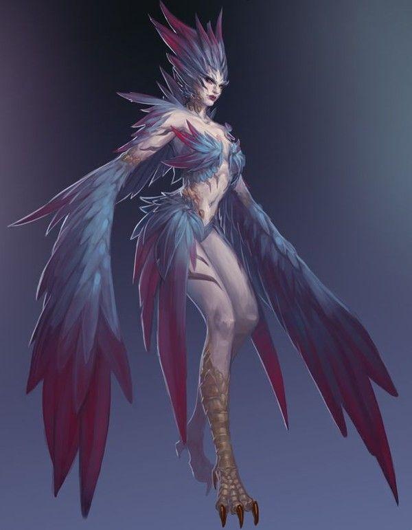 Smite Animated Wallpaper Harpie Fantasy