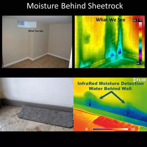 infrared images detect moisture behind walls