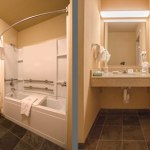 Bathroom in room 209 at Moenkopi Legacy Inn & Suites (view two)