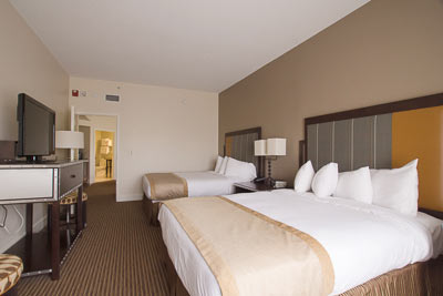 Guest bedroom in suite 1326 has plenty of maneuvering room