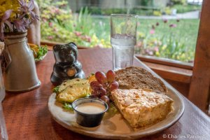 Chicken Almond Quiche at the Pottery House Cafe and Grille