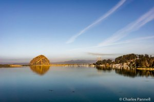 Morro Rock and the city of Morro Bay