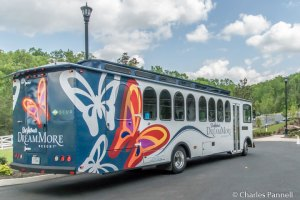 Accessible shuttle bus at Dollywood's Dream More Resort