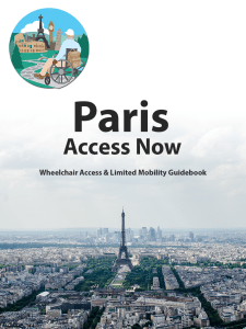 Paris Access Now Published by Wheelchair Access Now
