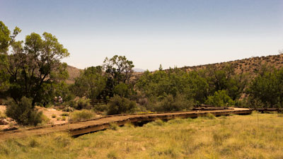 The low bumper on the boardwalk offers unobstructed views of the Calico Basin meadow