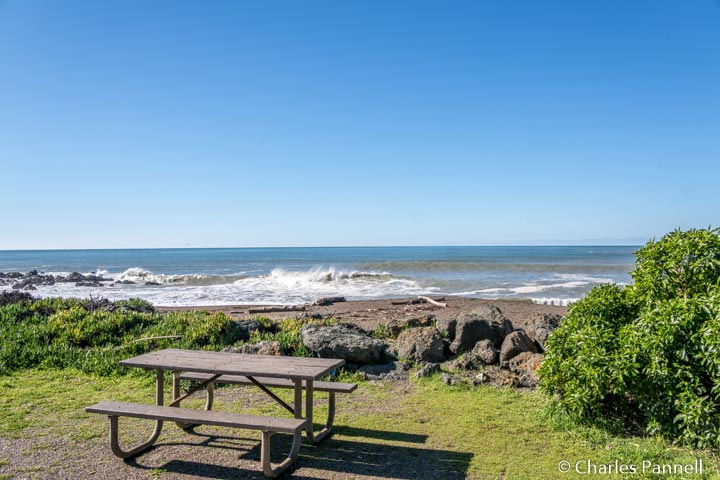 Picnic table with a view at Shamel County Park