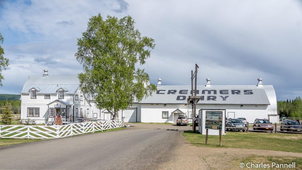 The barn at Creamer's Dairy in Fairbanks, Alaska