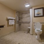 Bathroom in room 325 at the Lodge at Glenwood Springs