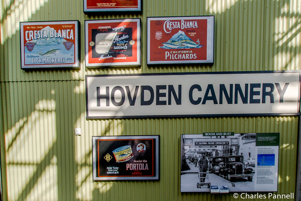 Part of the Hovden Cannery exhibit at Monterey Bay Aquarium