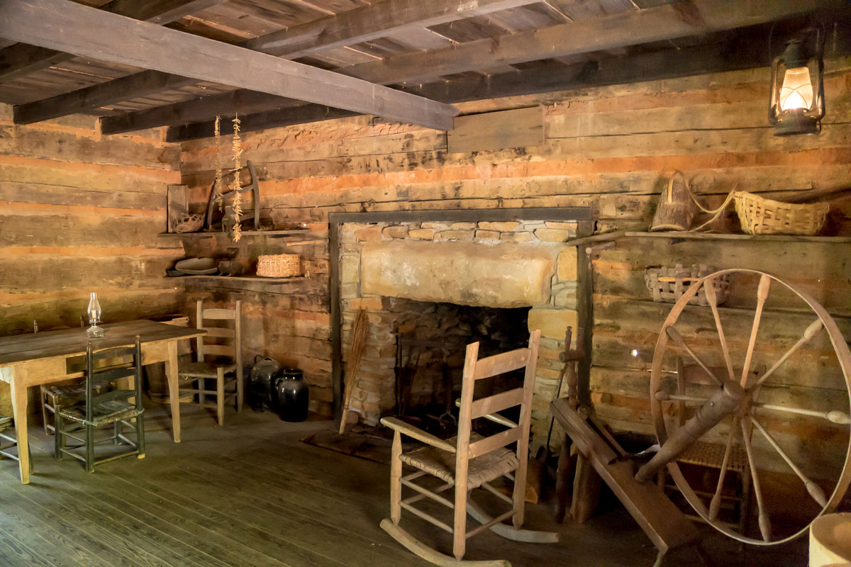 Inside the Savannah House at the Foxfire Museum and Heritage Center