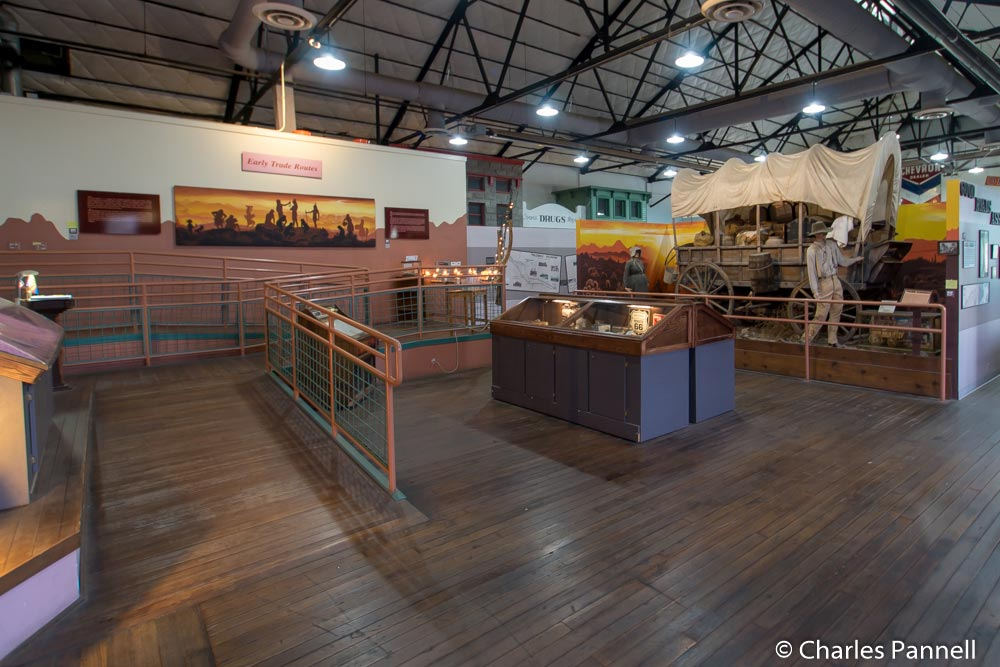 Inside the Powerhouse Museum on Route 66 in Kingman, Arizona