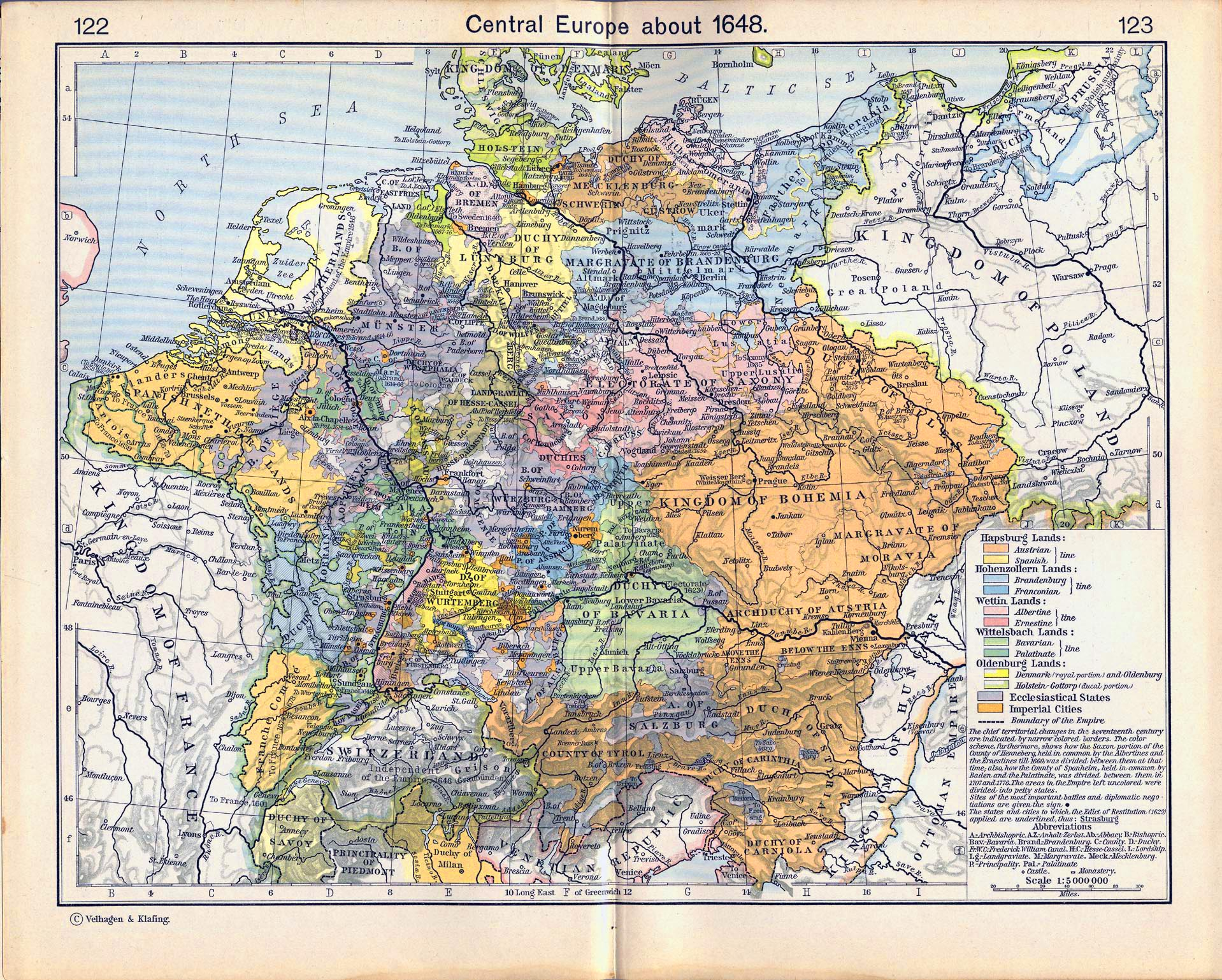 Maps Oldenburg Map Of Central Europe 1648